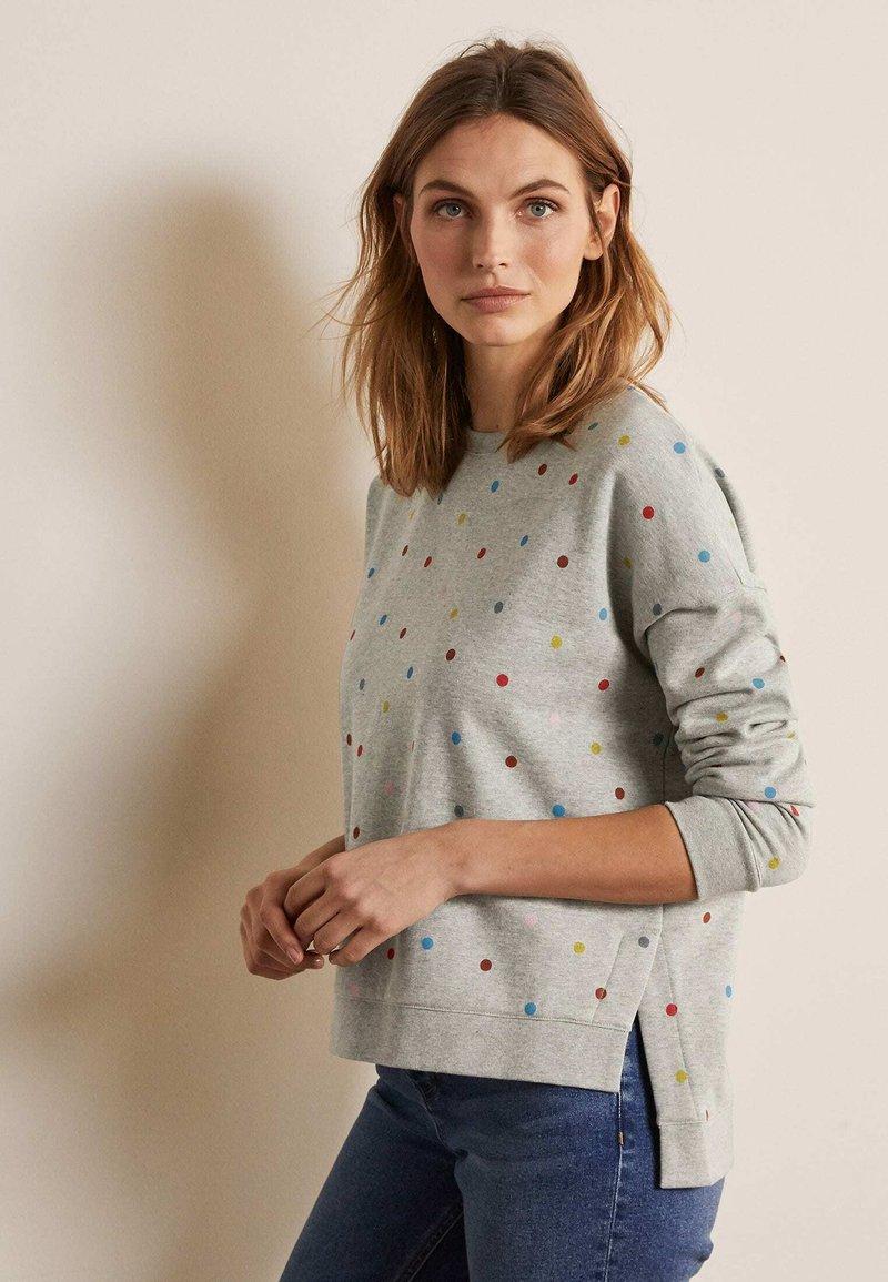 Boden - JASMINE  - Sweatshirt - grau meliert, polka-tupfen