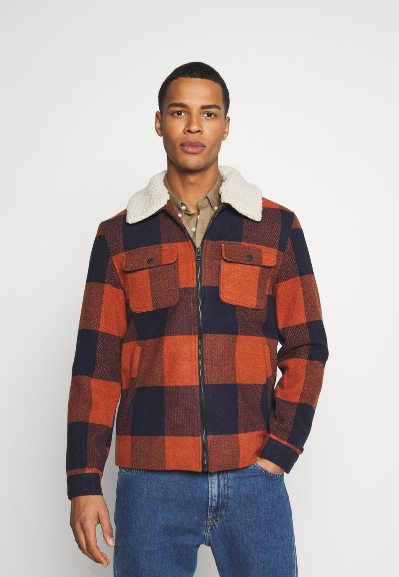 Only & Sons - ONSROSS NEW CHECK JACKET - Light jacket - bombay brown