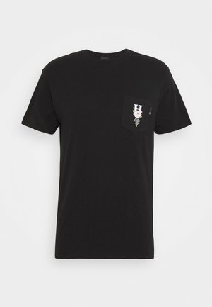 CENTRAL PARK POCKET TEE - Camiseta estampada - black
