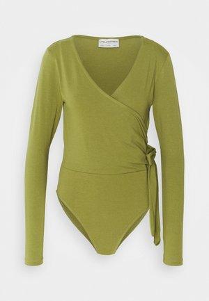WRAP FRONT WITH TIE BODY SUIT - Longsleeve - khaki