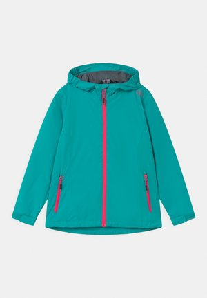 FIX HOOD - Waterproof jacket - turquoise/pink