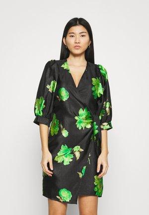 CELESTINA WRAP DRESS - Day dress - black/green
