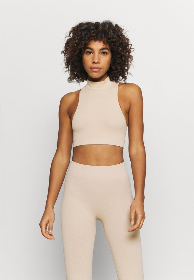 CROP - Top - beige