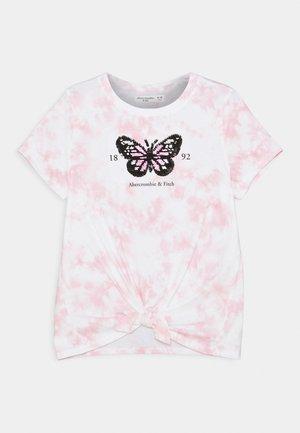 FRONT FLIP - Triko spotiskem - pink