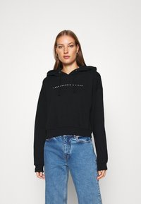 Abercrombie & Fitch - SMALL SCALE LOGO - Hoodie - black - 0