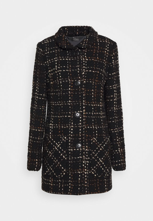 Classic coat - fancy black/hazelnut