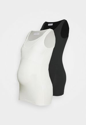 MLLEA NELL TANK 2 PACK - Toppi - black/packed show white
