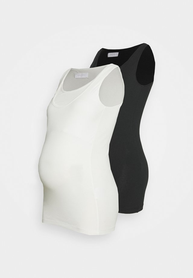 MLLEA NELL TANK 2 PACK - Top - black/packed show white
