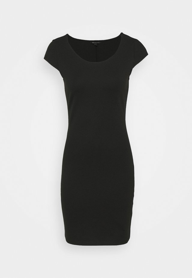DRESS - Shift dress - black