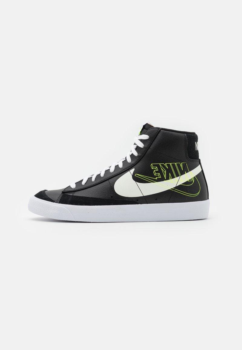 Nike Sportswear - BLAZER MID '77  - High-top trainers - black/sail/white/volt