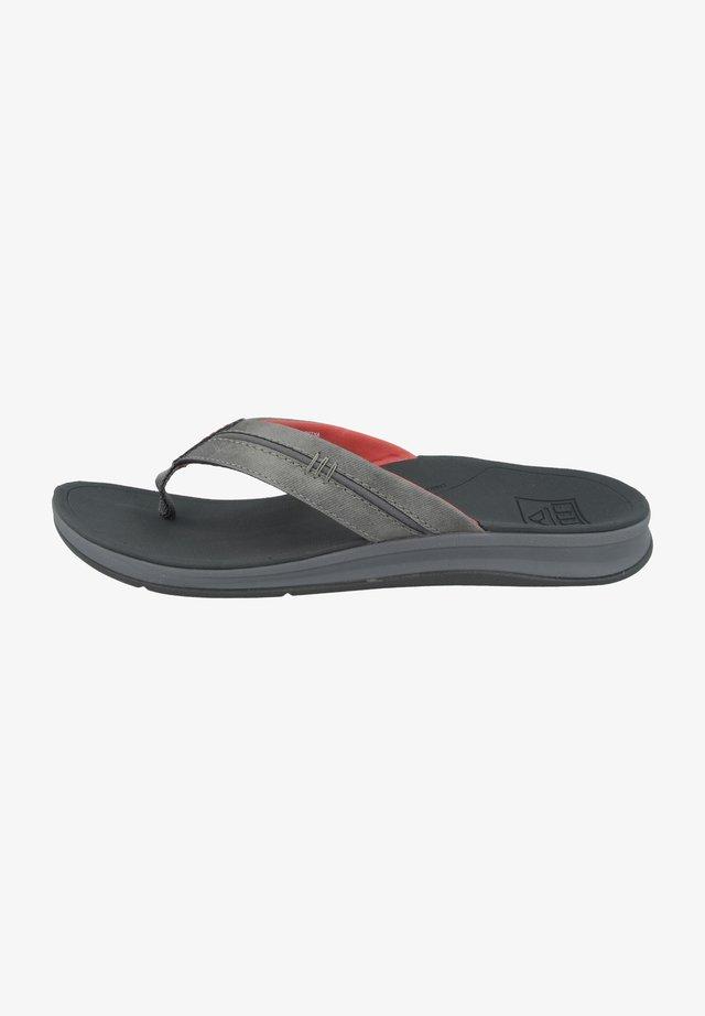 ORTHO-BOUNCE COAST - T-bar sandals - charcoal-rust (rf0a3ykqchr)