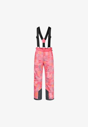 Snow pants - coral pink all over