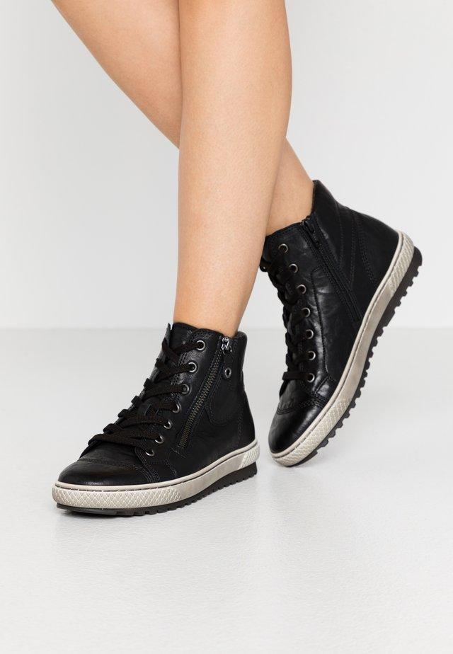Zapatillas altas - schwarz