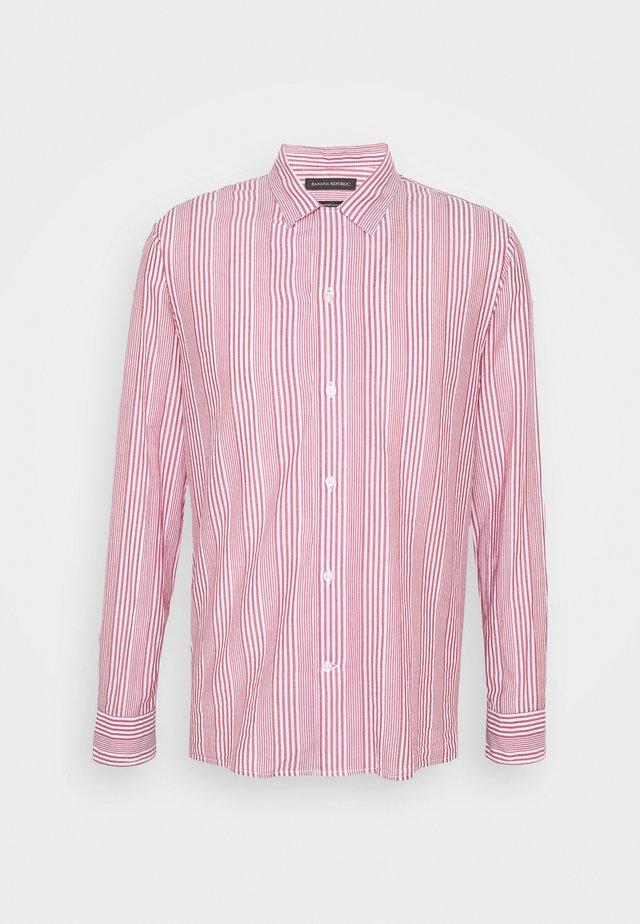 STRIPE CAMP  - Camicia - raspberry