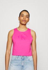 Calvin Klein Jeans - TONAL MONOGRAM TANK - Top - party pink - 0
