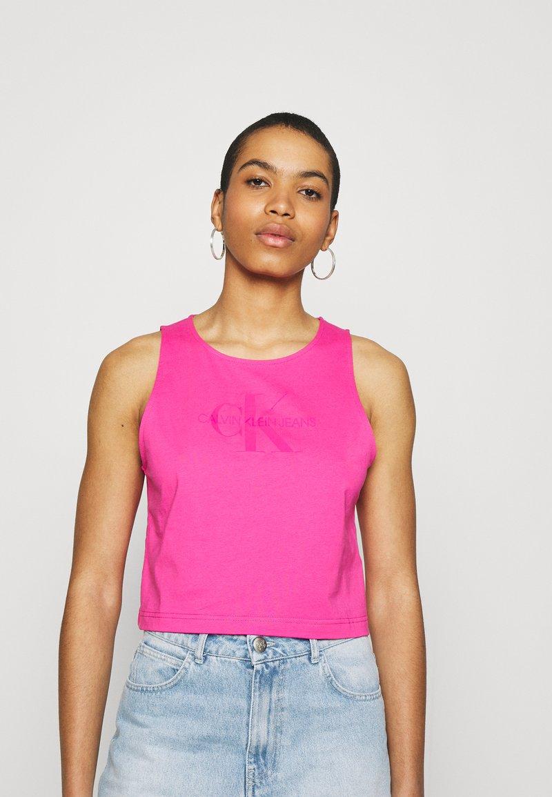 Calvin Klein Jeans - TONAL MONOGRAM TANK - Top - party pink