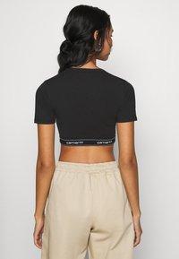 Carhartt WIP - SCRIPT CROP - Camiseta básica - black/white - 2