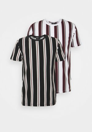 STRIPE 2 PACK - T-shirt print - white