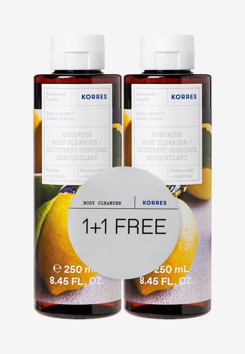 Korres - BASIL LEMON 1+1 SHOWER GEL SET - Bath and body set - -