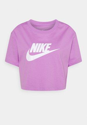 TEE - T-shirt imprimé - violet shock/white