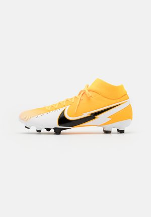 MERCURIAL 7 ACADEMY FG/MG - Moulded stud football boots - laser orange/black/white