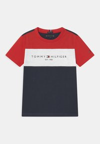 Tommy Hilfiger - ESSENTIAL COLORBLOCK - Print T-shirt - twilight navy - 0