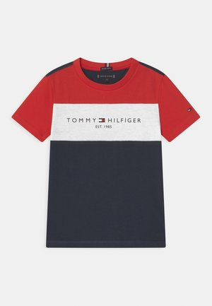 ESSENTIAL COLORBLOCK - T-shirt med print - twilight navy
