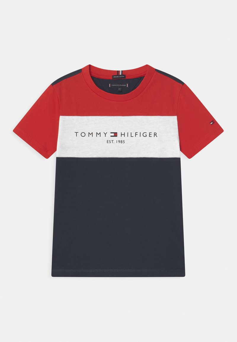 Tommy Hilfiger - ESSENTIAL COLORBLOCK - Print T-shirt - twilight navy
