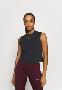 Reebok - VECTOR CROP - Top - black - 0