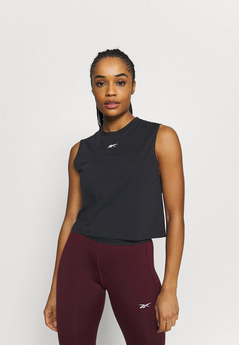 Reebok - VECTOR CROP - Top - black