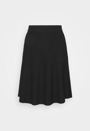 VIPLISANA SKIRT - Áčková sukně - black