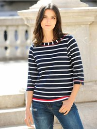 Alba Moda - Long sleeved top - marineblau,weiß,rot - 4