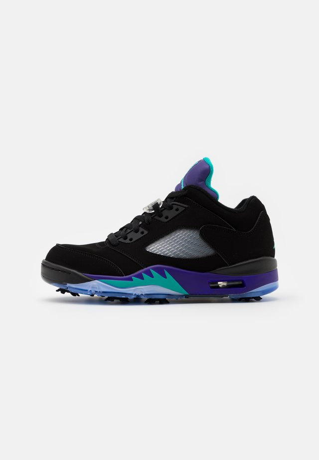 JORDAN V LOW - Golf shoes - black/new emerald/grape ice