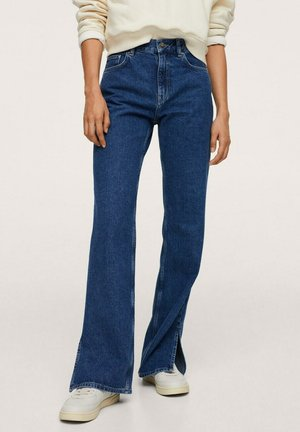 TAILLE HAUTE OUVERTURE - Flared Jeans - dark blue