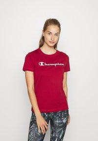 Champion - CREWNECK LEGACY - T-shirts med print - dark red - 0