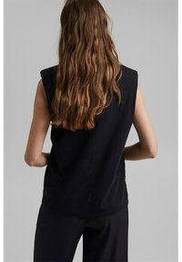 Esprit Collection - PADDED TEE - Basic T-shirt - black - 3