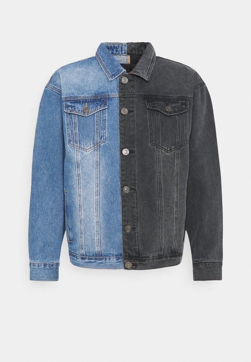 Mennace - SPLICED TRUCKER JACKET - Veste en jean - blue
