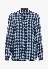 Marc Aurel - MIT ALLOVERPRINT - Button-down blouse - blue - 4