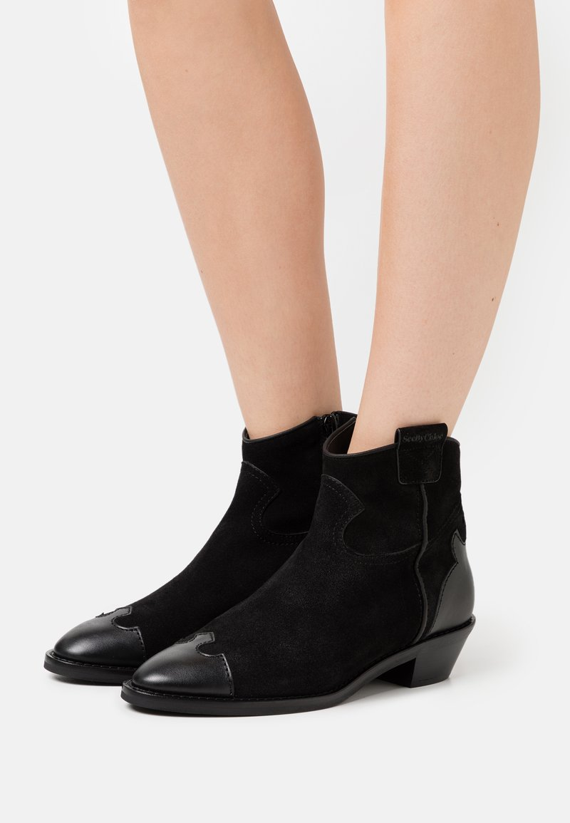 See by Chloé - Cowboy/biker ankle boot - texan
