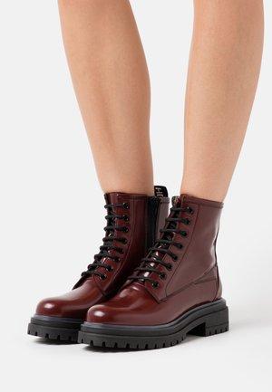 ALPHA BOOTIE - Lace-up ankle boots - bordeaux