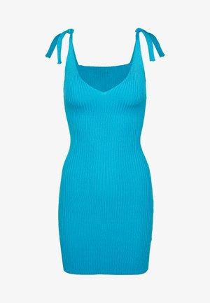 TIE SHOULDER CAMI MINI DRESS - Kjole - blue