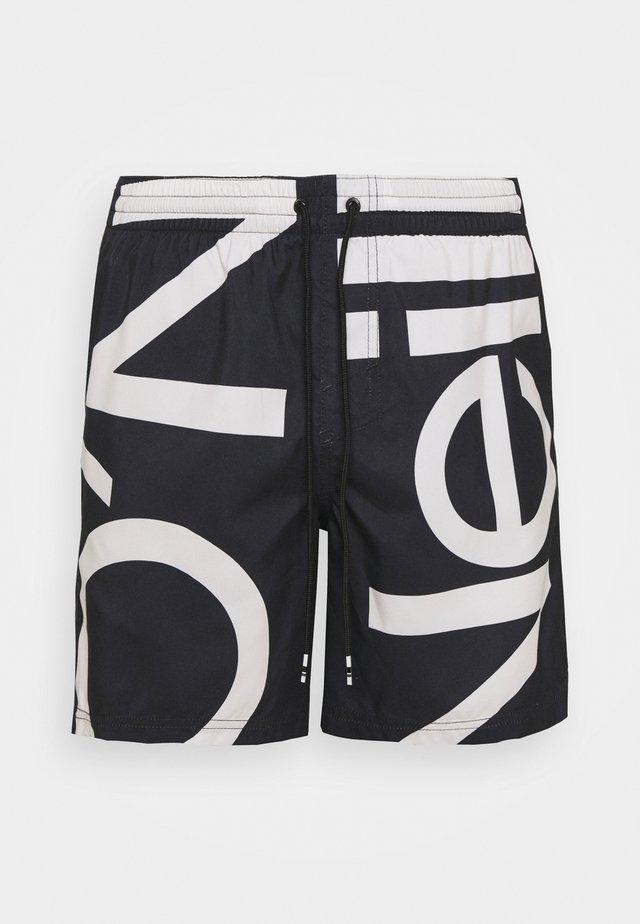 CALI ZOOM - Shorts da mare - black/white