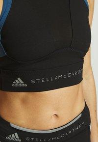adidas by Stella McCartney - RUN CROP - Treningsskjorter - black/visblu - 5