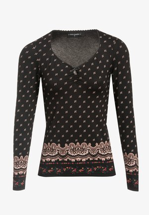HEIDI IN LOVE  - Blouse - schwarz allover