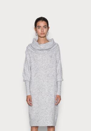 ONLSTAY COWLNECK DRESS - Jumper dress - light grey melange