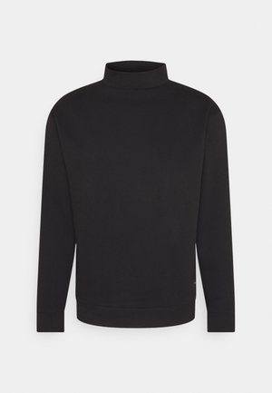 FUNNEL NECK CREW - Mikina - black