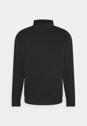 FUNNEL NECK CREW - Sweatshirt - black