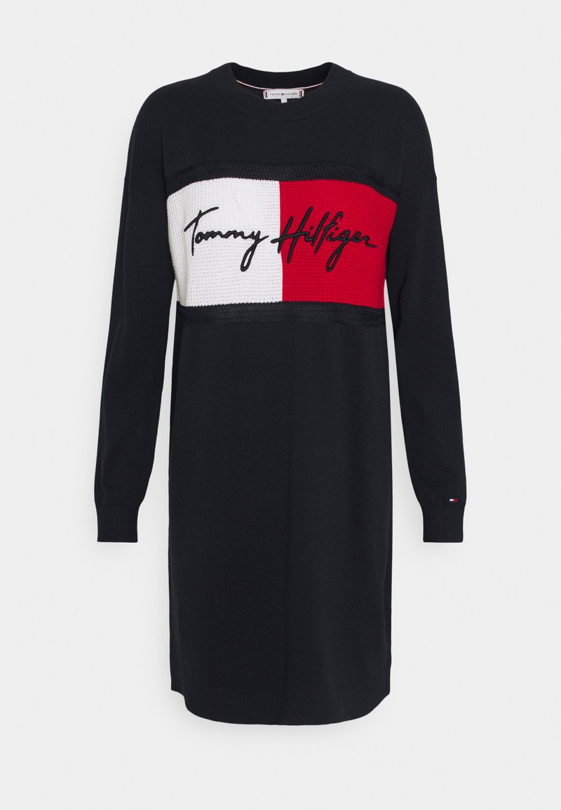 Tommy Hilfiger - DRESS - Jumper dress - desert sky