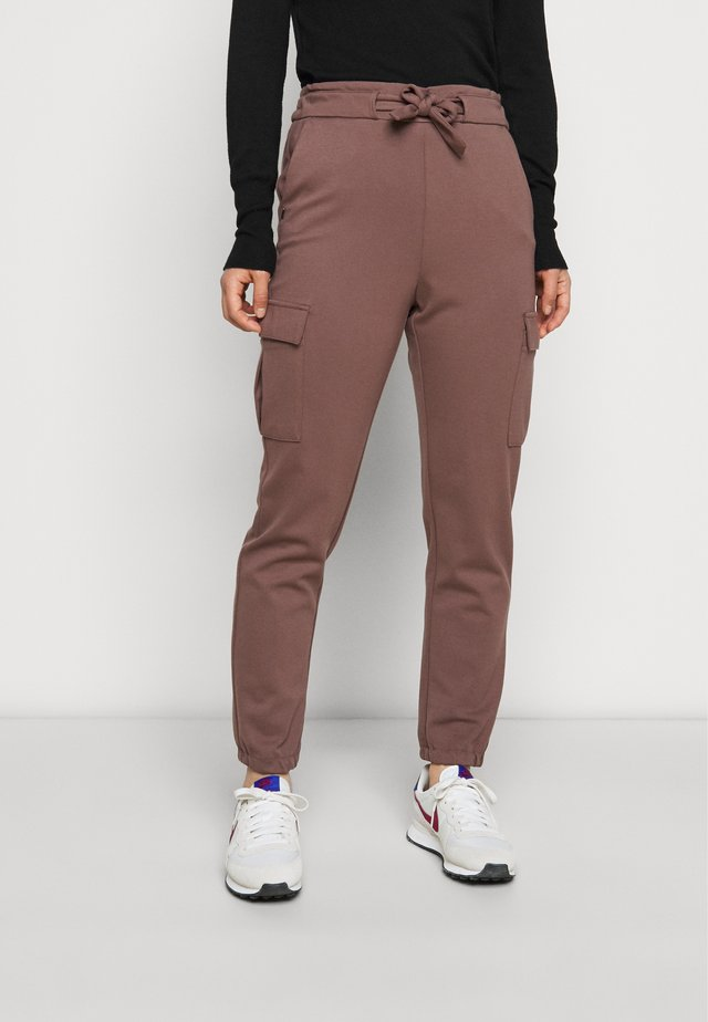ONLPOPTRASH BELT PANT - Cargo trousers - peppercorn