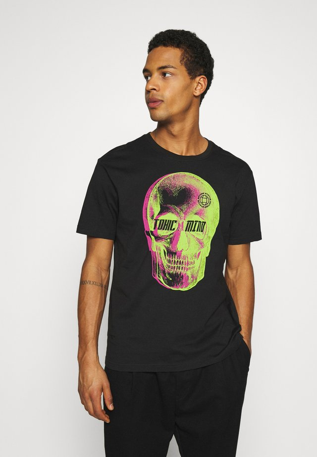 REGULAR FIT UNISEX - T-shirt imprimé - black